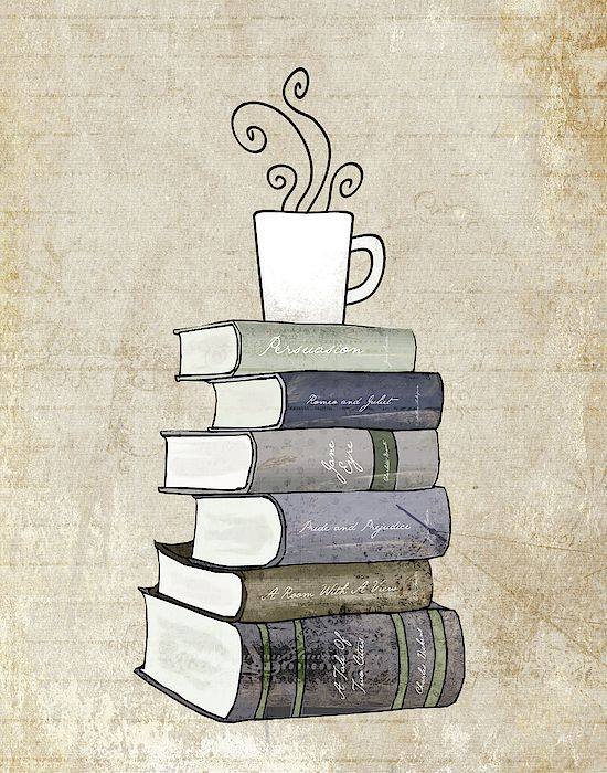 Books And Coffee by Amy Cummings