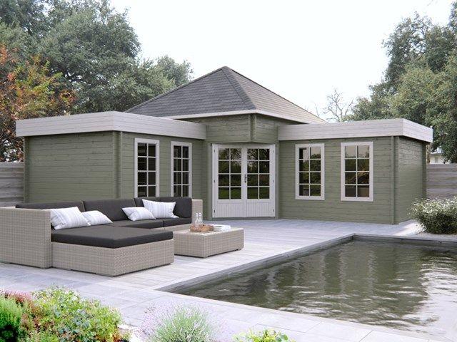 Je kan een blokhut aanbouwen aan je huis. Vaak doet ze dan dienst als extra slaapkamer of bijkeuken.
