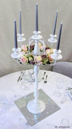 Location Grand chandelier Blanc-chandelier deco mariage