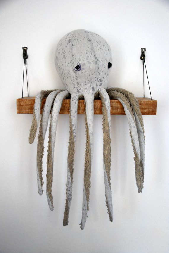 We can't wait to get our tentacles on this faux-fur–trimmed cotton octopus. #etsy #etsyfinds