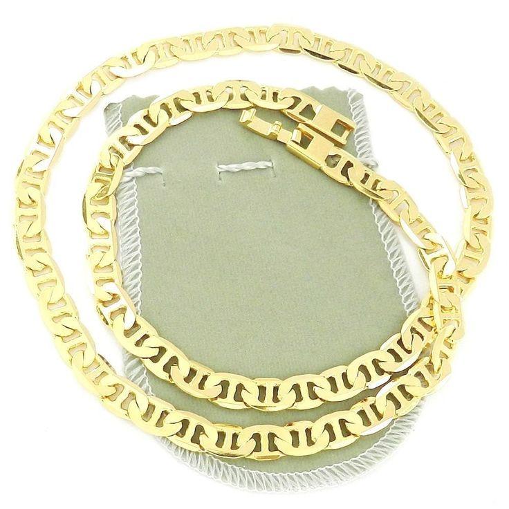 Corrente Masculina 70cm 8mm Largura Folheada Ouro CR184A