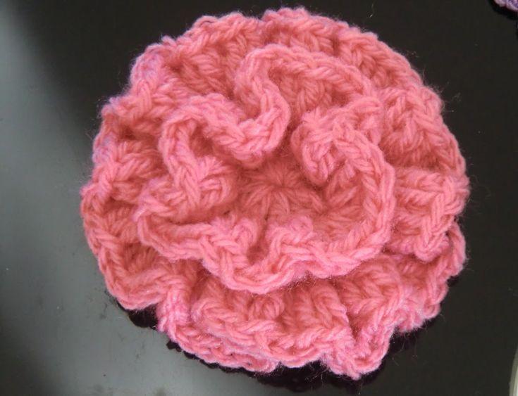 Crochet Pattern *  EASY FLOWER *