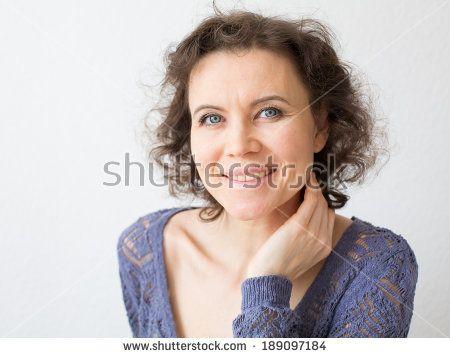 Romantic woman laughing