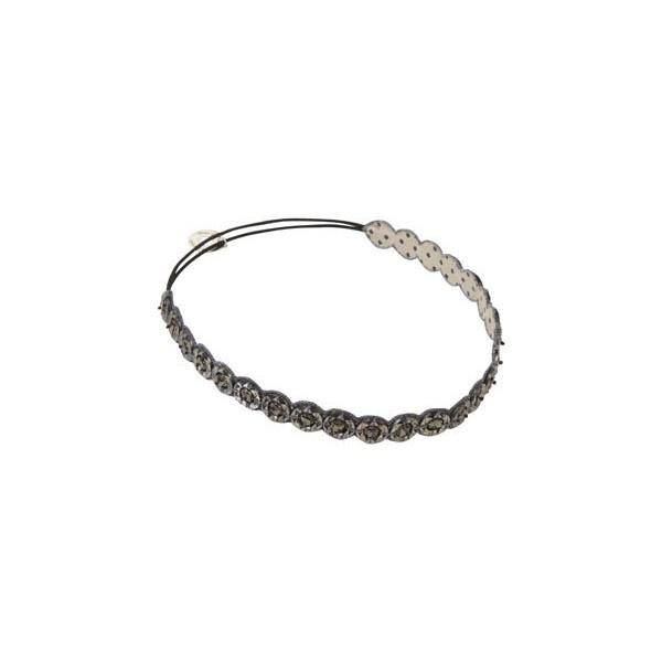 Mid Grey Circle Star Beaded Headband ($50-100) ❤ liked on Polyvore