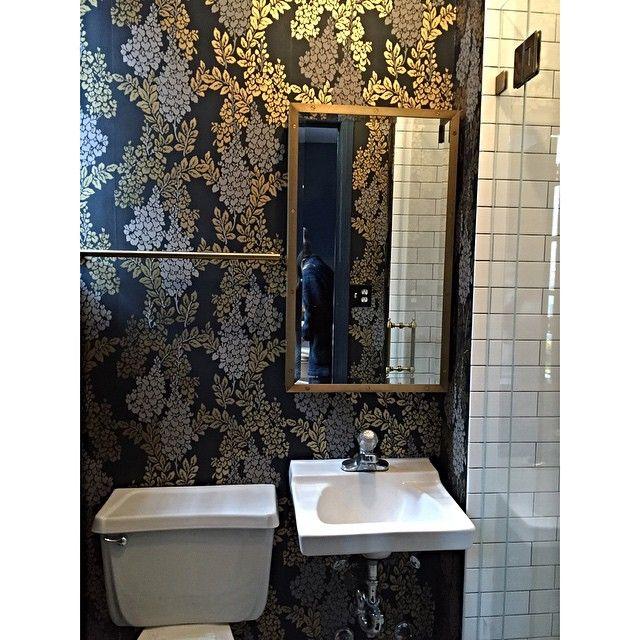 wisteria wallpaper bathroom - photo #7
