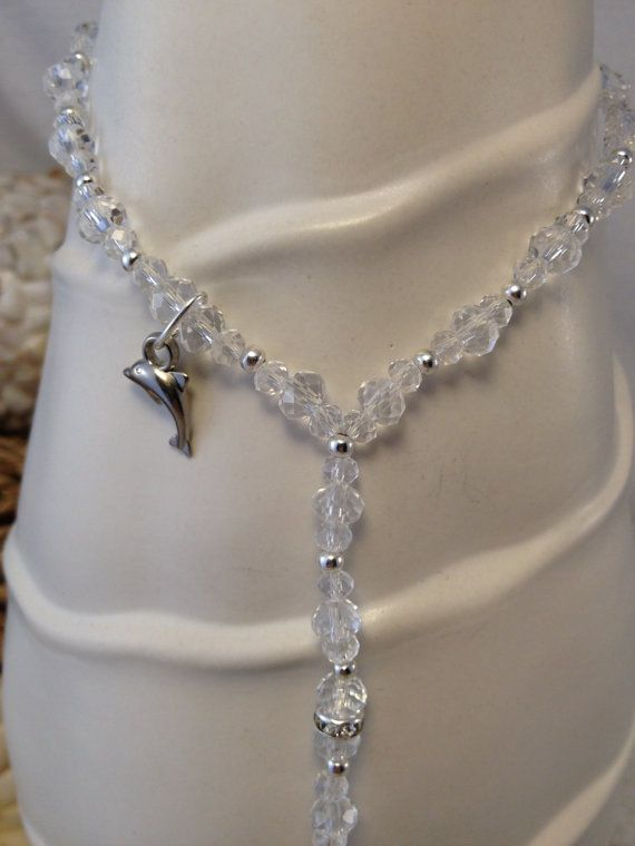 dolphin barefoot wedding sandals toe ring anklet by silverspoonlifestyle 2975 - Dolphin Wedding Rings