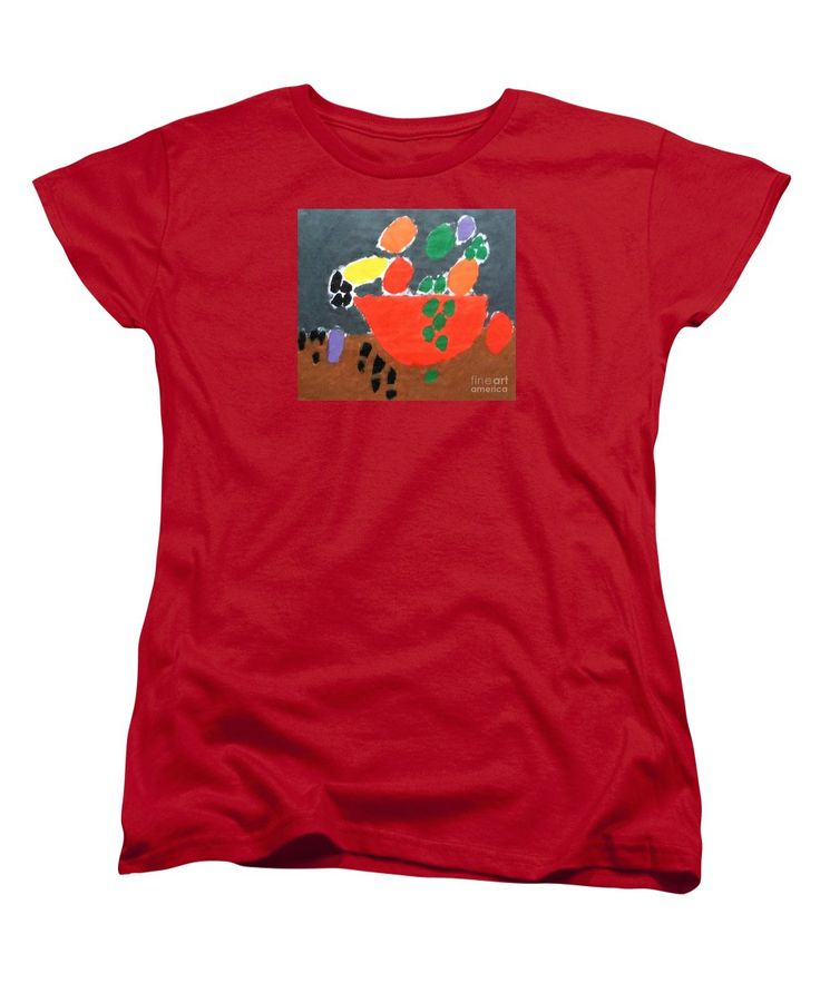 Patrick Francis Women's T-Shirt featuring the painting Bowl Of Fruit 2014 by Patrick Francis