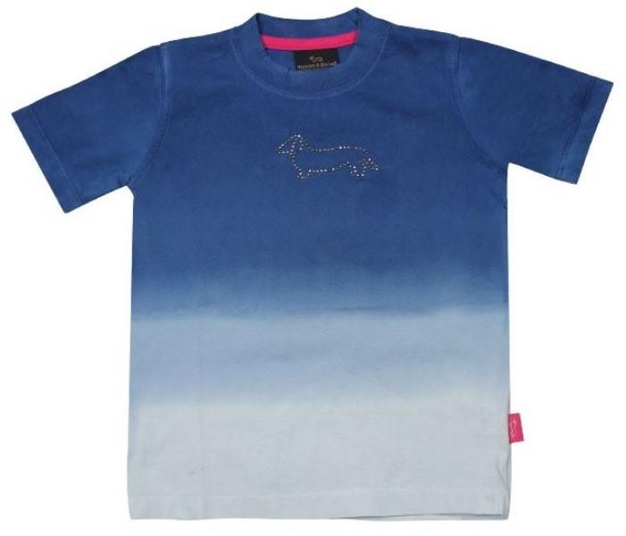 Sportieve shortsleeve met batik look kleurverloop van Harmont & Blaine kinderkleding. Dit gave t-shirt heeft het logoin kleine metalen studs op het voorpand.    http://www.kinderkledinghippie.nl/a-27061580/harmont-amp-blaine/harmont-blaine-t-shirt#