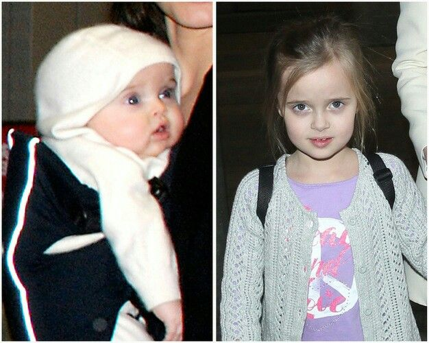How she has grown.  Vivienne Jolie-Pitt. A twin born in 2008. Now she is  6 years  old.