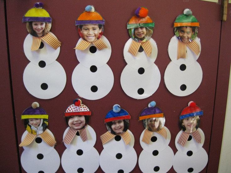 Classroom Door Decoration Ideas For January : This is our january check in the children put a hat on