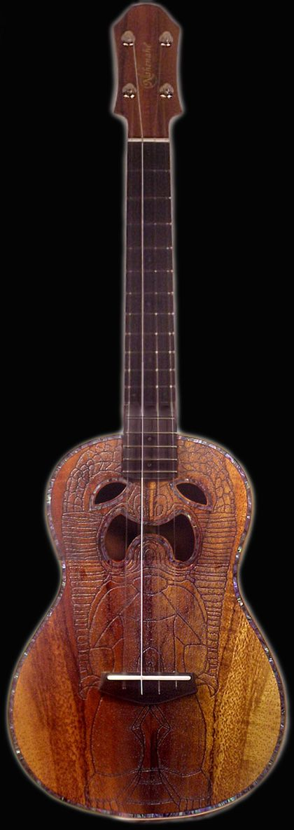 Paul Petersen Tiki Uke #LardysUkuleleOfTheDay ~ https://www.pinterest.com/lardyfatboy/lardys-ukulele-of-the-day/ ~