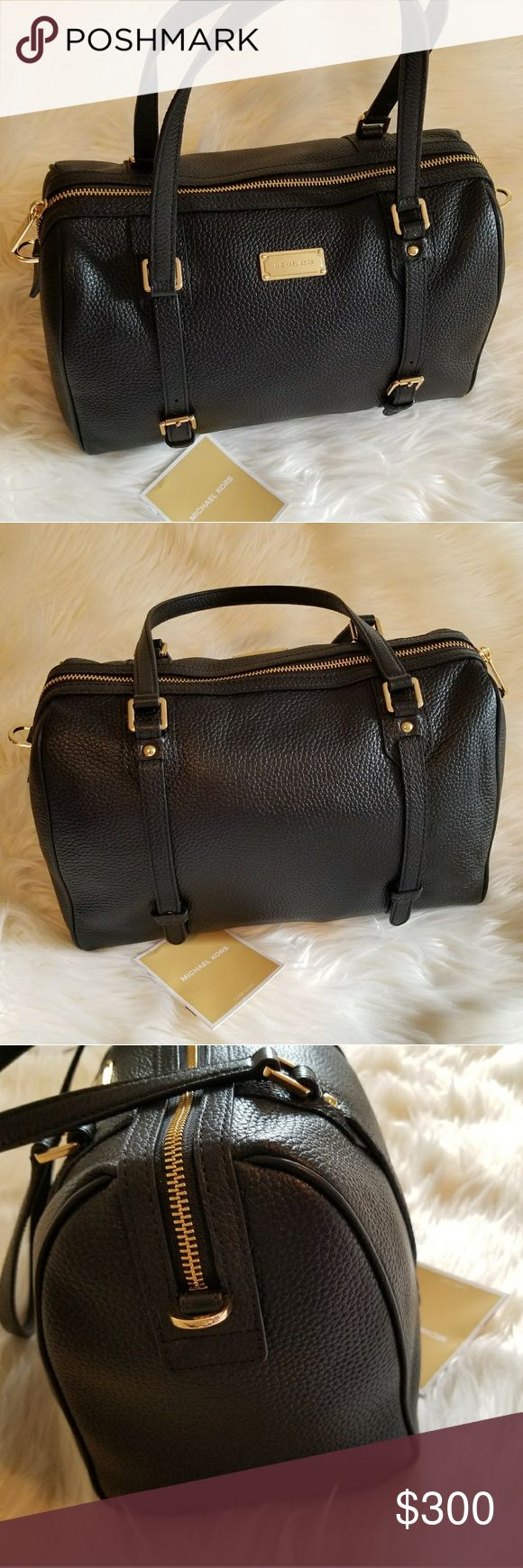 """NWT*Michael Kors Large Bedford* NWT* Black Michael Kors Large Bedford Satchel * Gorgeous Black Pebbled Leather w/Gold Tone Hardware & Signature plate on Front* Beautiful Detailing, Great Bag for Day or night*Approx. Dimensions : 12"""" (W) x 8"""" (H) x 6.5"""" (D)*  Reasonable offers accepted* Bundle & Save* Michael Kors Bags"""
