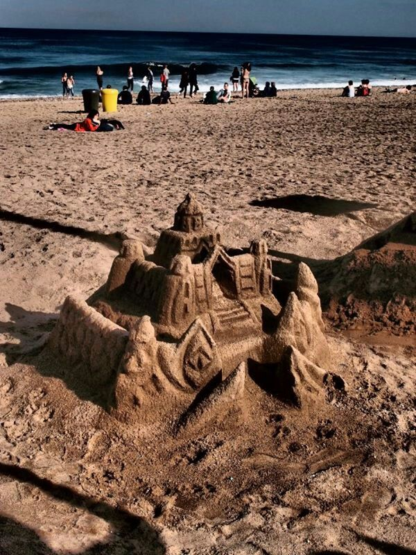 Sand castle, Barcelona