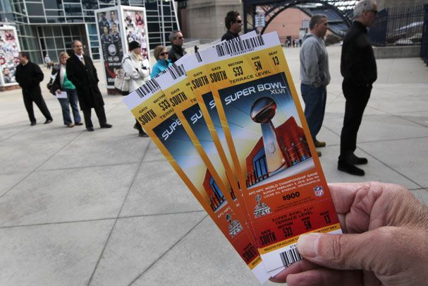Superbowl XLVI tickets... What I wouldn't do to have these.