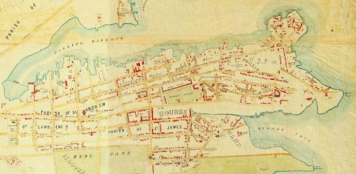 Map of Sydney, NSW, 1848