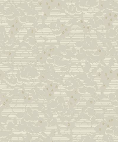 Silver Lining Mink wallpaper by Sophie Conran