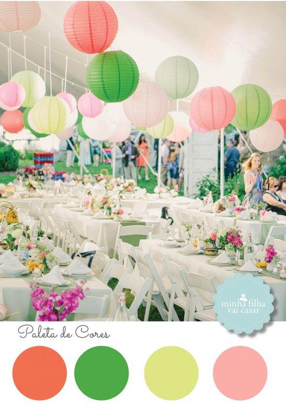 Wedding decor, citric colors, color pallet