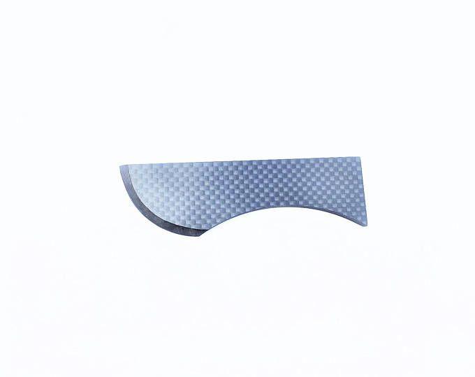 OVALE 100 % fibre de carbone couteau brillant fini pleine fibre de carbone lame et le manche grand luxe cadeau Objet