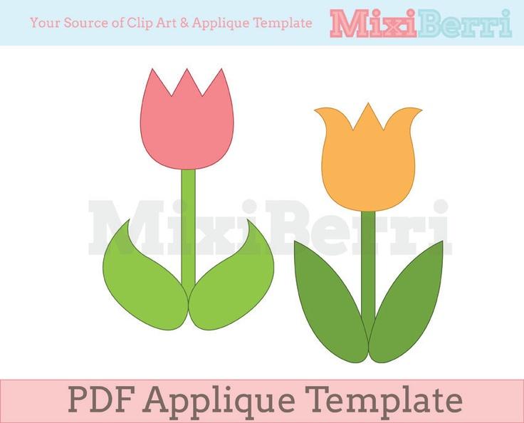 Applique Template Tulip