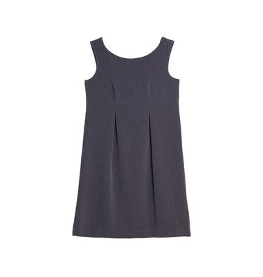 Straight fit mini dress with pleats