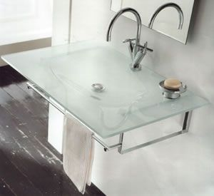Open Kristallux Musa Glass Sink