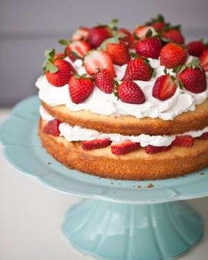Black Pepper Sponge Cake with Strawberry Balsamic Whipped Cream: Recipe, Cakes, Food, Strawberries, Strawberry Shortcake, Sponge Cake, Whipped Cream, Strawberry Cake, Dessert