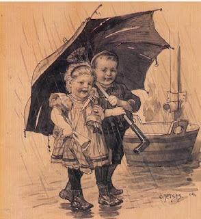 Onder moeders paraplu,Ot en Sien van Cornelis Jetses