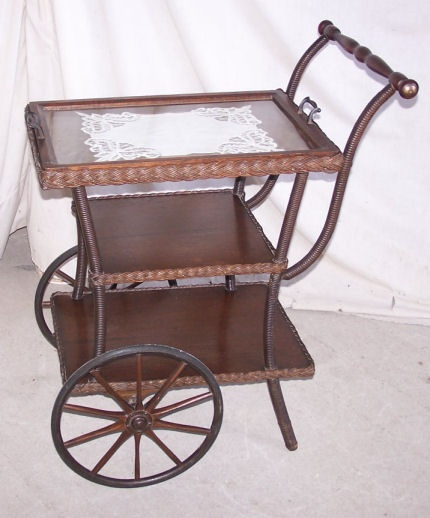 Victorian tea cart - how beautiful  would it look in white!!!