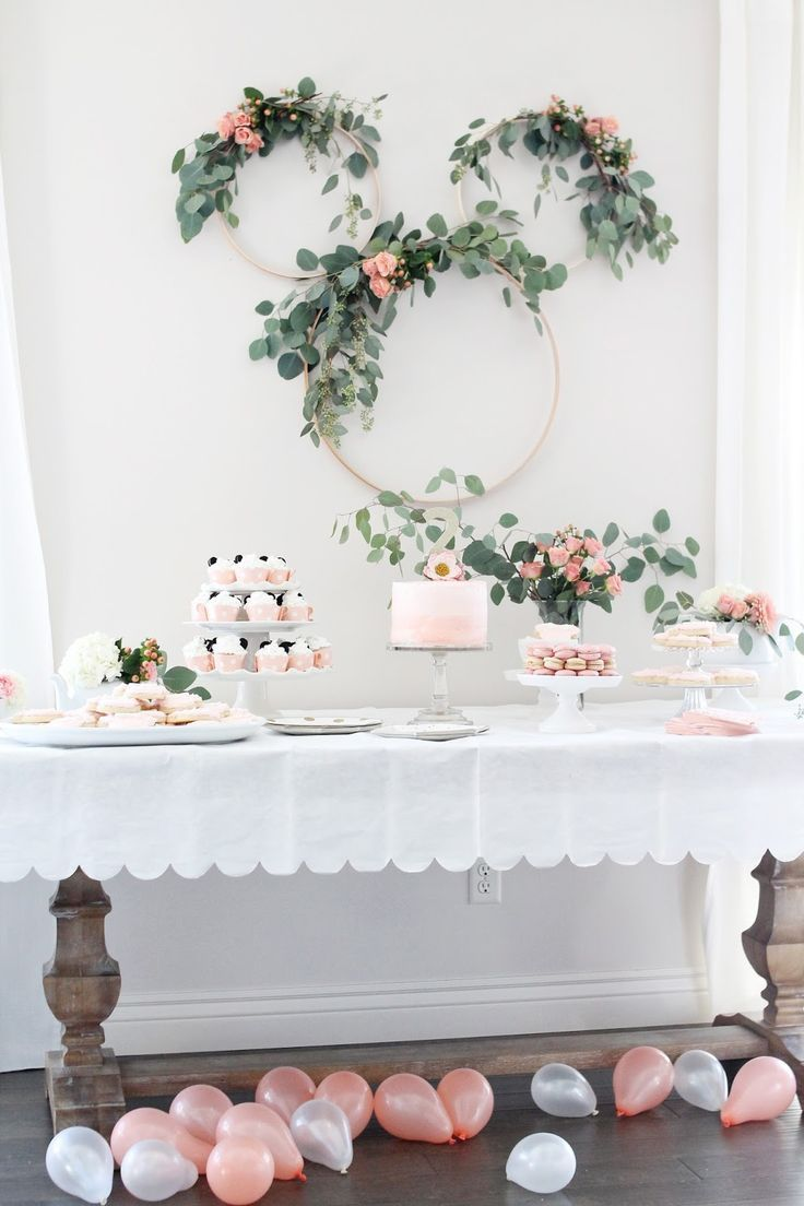 Minnie Mouse Tea Party Zweiter Geburtstag #Party #GeburtstagParty #ZweitGeburtst