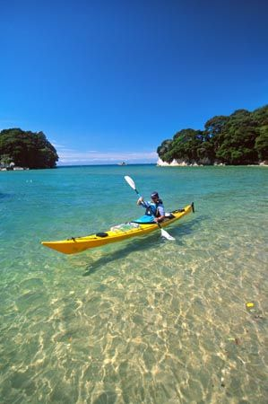 Abel Tasman National Park - New Zealand. This was where I first did Kayaking. Set the bar pretty high for me!