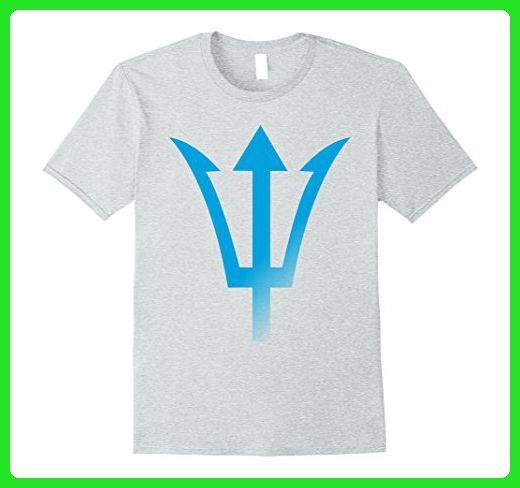 Mens Blue Poseidon Symbol Trident T Shirt Ancient Greece Power XL Heather Grey - Cities countries flags shirts (*Amazon Partner-Link)
