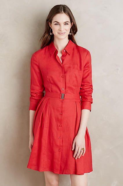 15 Must-see Red Shirt Dress Pins | Șic minimal și Pantaloni