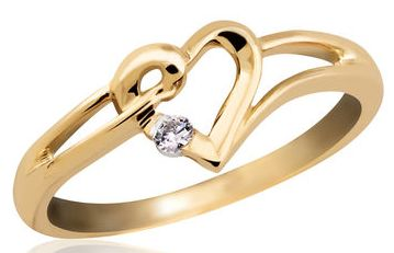 Save 60% OFF ON Kiara Jewellery Golden Ring.Golden coloured ring for women from Kiara Jewellery. Made from sterling silver, it is studded with Austrian Diamond and has gold finish.