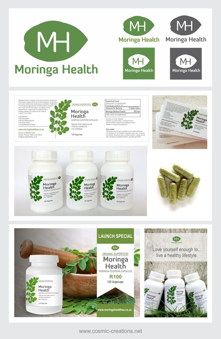 Cosmic Creations Freelance Design Lab: Moringa Health branding