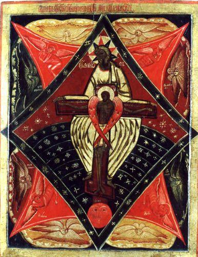 """Karelia 18 ° secoloIcona russa della """"Anima di Cristo"""" Karelia. XVIII secolo"""