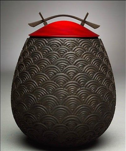 lovely turned vase by matthew hill