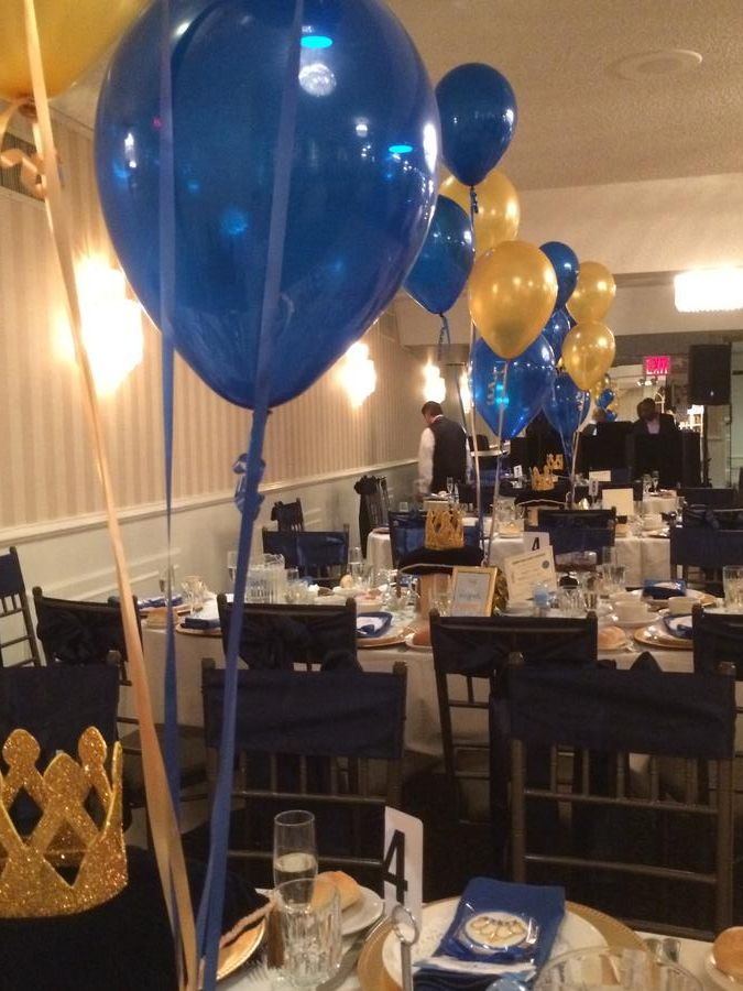 royal blue and gold baby shower decorations the