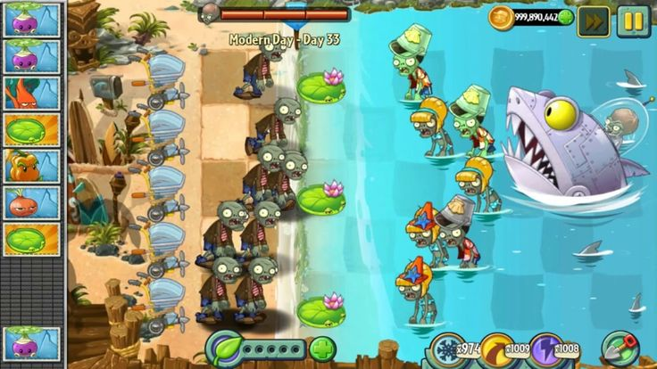 Plants vs Zombies 2 Epic Hack! 9999 Zombies vs Dr  Zomboss