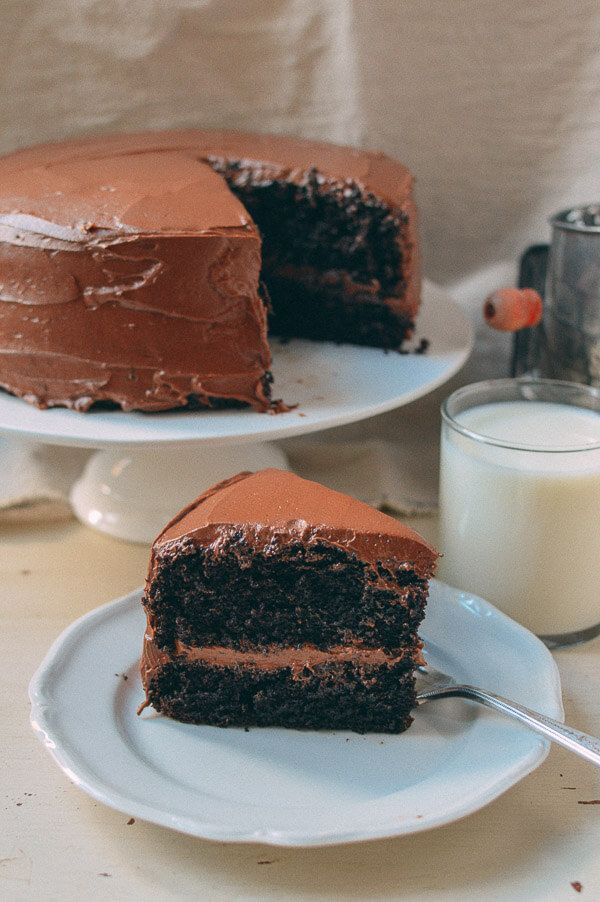 This chocolate cake recipe is a staple in our family, making appearances at birthdays, dinner parties, & any other events that give us an excuse to make it.