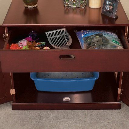 Nice AmazonSmile : Meow Town Concord Litter Box Cabinet Furniture For Cats And  Kittens   Brown 28 Amazing Pictures