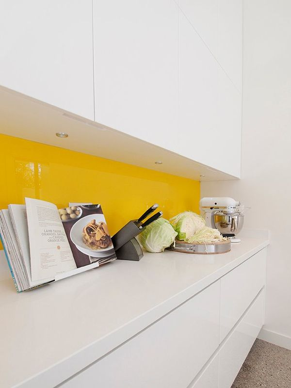 White Kitchen Yellow Backsplash 39 best images about kitchen (reno) on pinterest | tile, heath