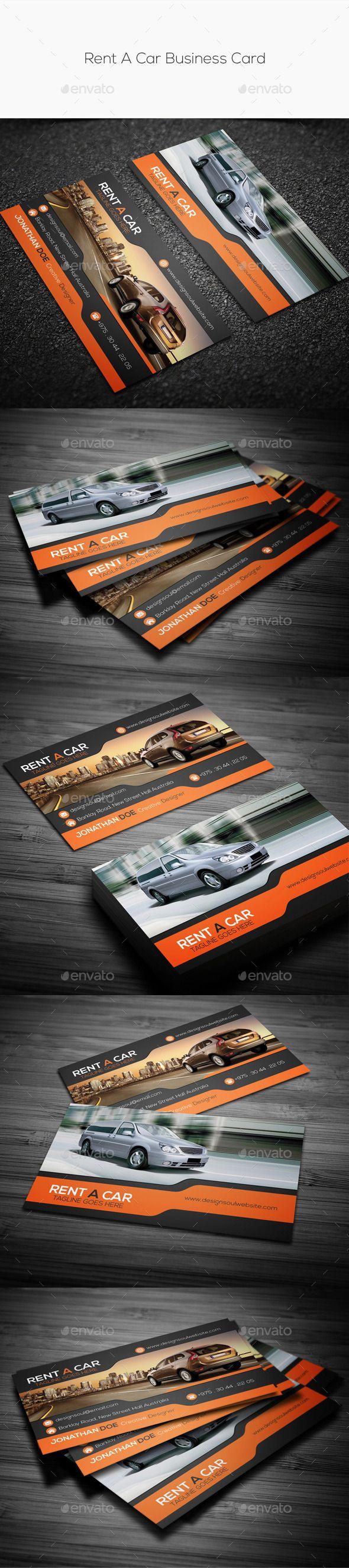 Rent A Car Business Card Template #design Download: http://graphicriver.net/item/rent-a-car-business-card/11052096?ref=ksioks