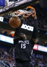 Minnesota Timberwolves forward Shabazz Muhammad (15) dunks the ball in the second quarter at Vivint Smart Home Arena.  #9223396