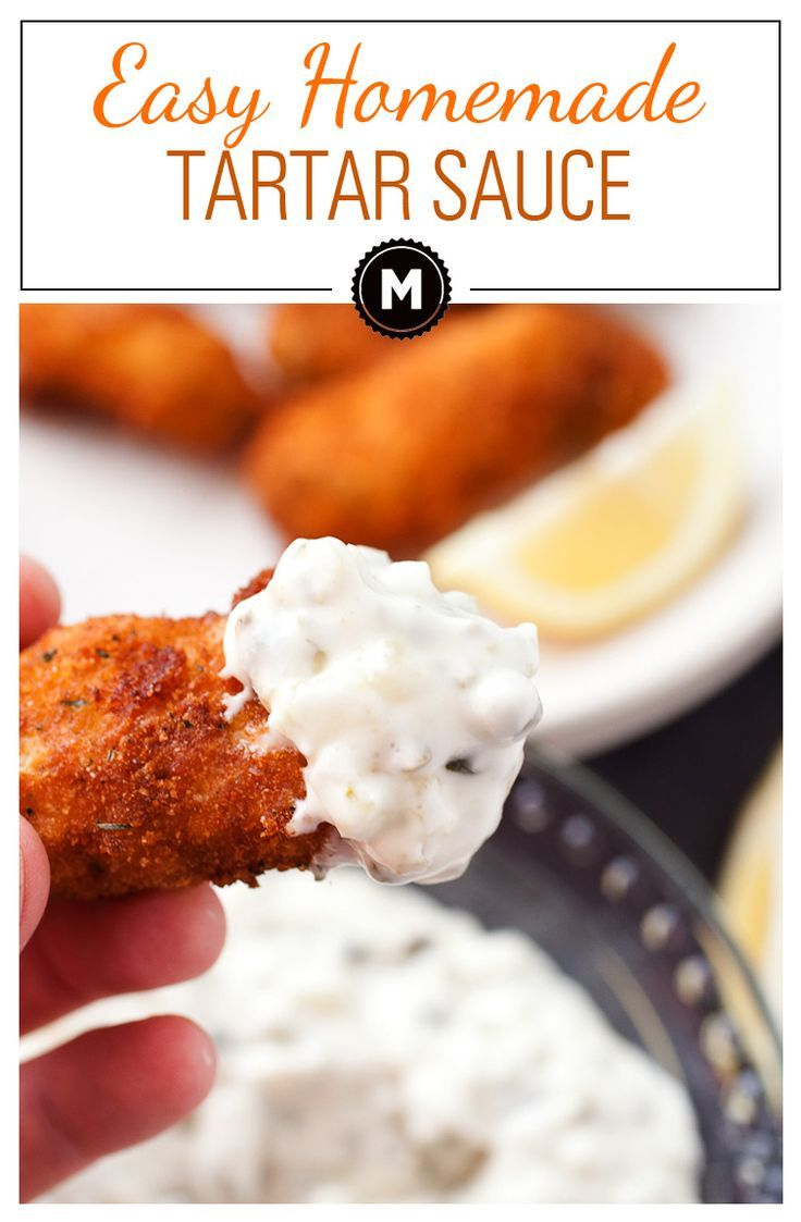 Easy Homemade Tartar sauce: This is really the perfect quick tartar sauce. It's the perfect mix of savory, sweet, tart, and creamy. Do not skimp on the capers!