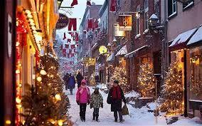 Résultats de recherche d'images pour «christmas in old town quebec city»