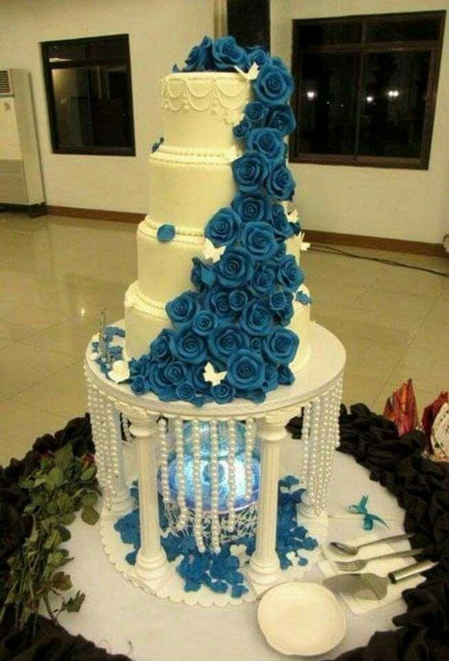 Blue Wedding Cakes Fountain Www Pixshark Com Images