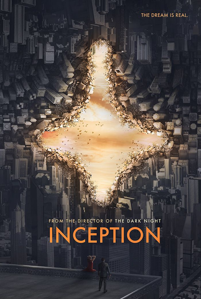 """Inception alternative movie poster by Edit Ballai Movie Synopsis: """"A thief, who steals corporate secrets through use of dream-sharing technology, is g…"""