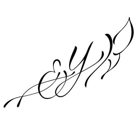 modèle de tatouage lettres et papillon