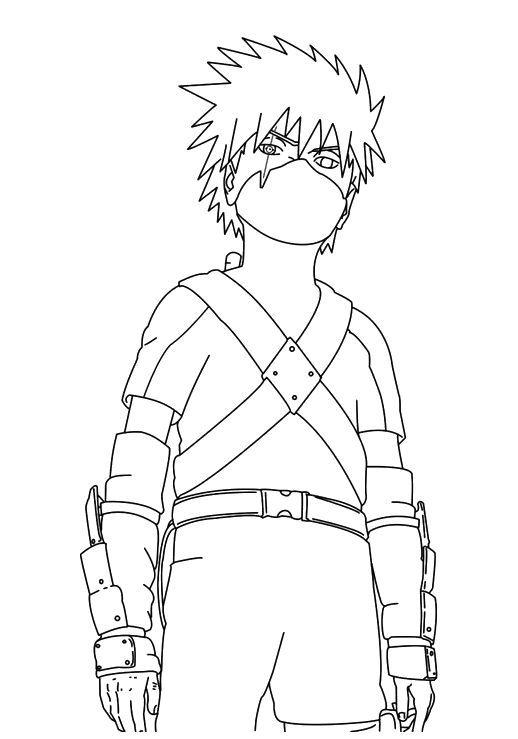 Naruto Coloring Pages Kakashi Kids Coloringstar