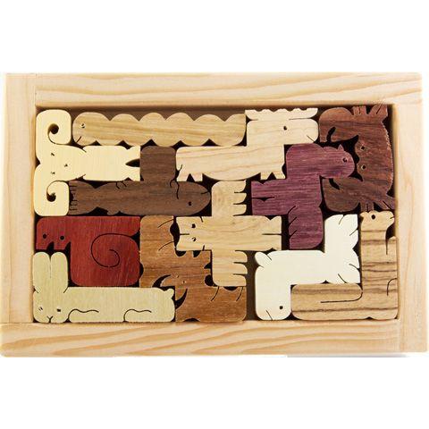 Animal pentominoes puzzle
